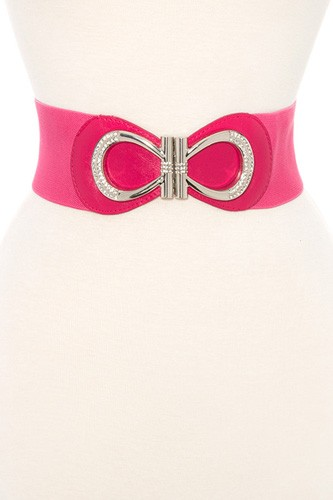 Rhinestone pave accent stretch belt-id.CC35870