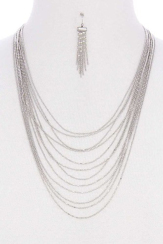 Multi layer metal necklace -id.CC35875