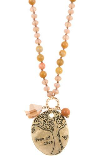 Tree of life beaded necklace set-id.CC35949