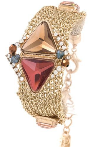 Multi chain gem accent bracelet-id.CC35968