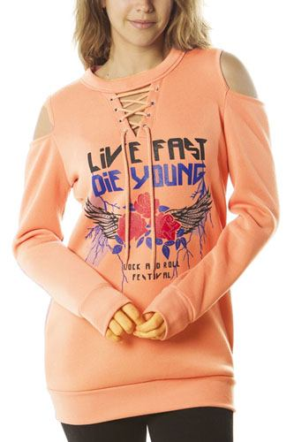 Ladies fashion  sweatshirt cold shoulder mini dress tops, pullover, embellished w/ applique-id.CC35984b