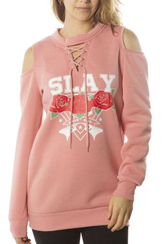 Ladies fashion sweatshirt cold shoulder mini dress hoodies-tops, pullover, embellished w/ applique-id.CC35985e