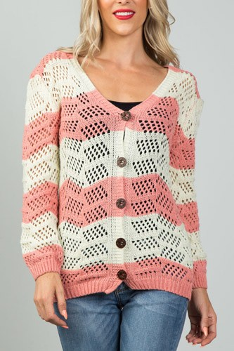 Ladies fashion  open knit cardigan-id.CC35992b