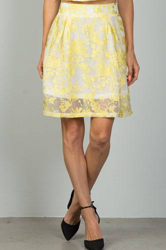 Ladies fashion floral embroidered skirt-id.CC35993a