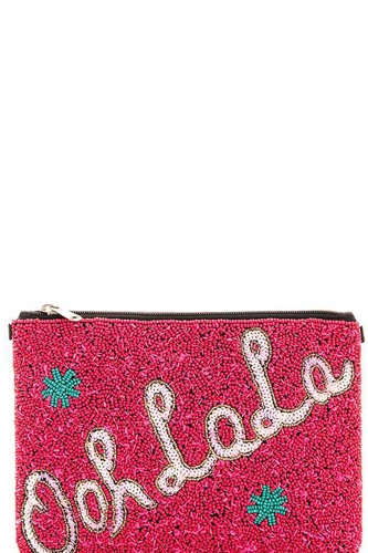Spangle ooh la la clutch with long strap-id.CC36002