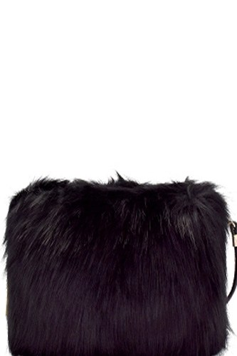 Faux fur clutch cross body-id.CC36008