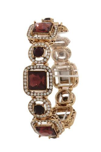 Square shape rhinestone stretch bracelet-id.CC36021