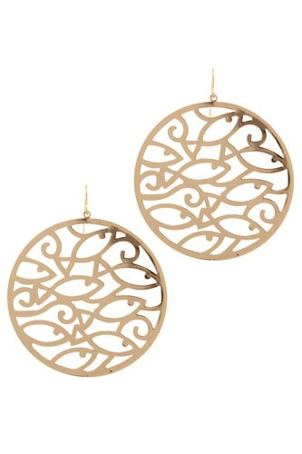 Cut out circle drop earring-id.CC36031