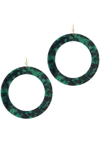 Acetate cut out circle drop earring-id.CC36036