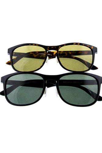 Mens simple square shaped classic glass lens sunglasses-id.CC36069