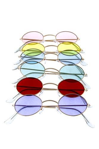 Womens oval metal vintage style retro fashion sunglasses-id.CC36074