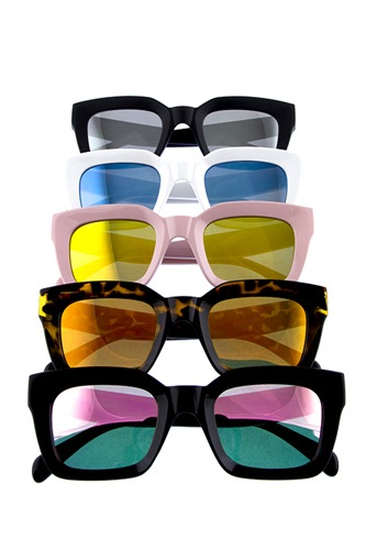 Womens square shaped plastic modern fashion sunglasses-id.CC36075