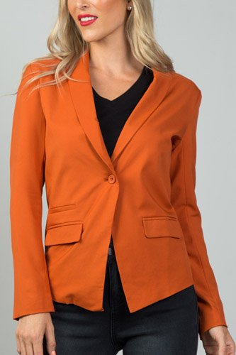 Ladies fashion single button blazer-id.CC36122