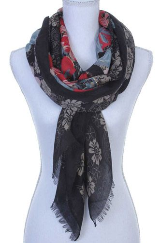 Floral pattern oblong scarf-id.CC36132