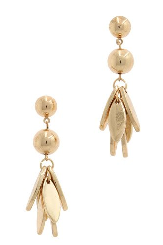 Metal ball dangle drop earring-id.CC36170