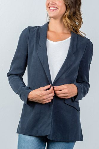 Ladies fashion one button closure blazer-id.CC36213