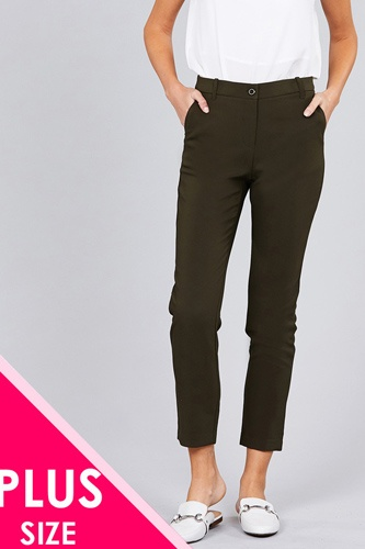 Ladies fashion plus size seam side pocket classic long pants-id.CC36281f
