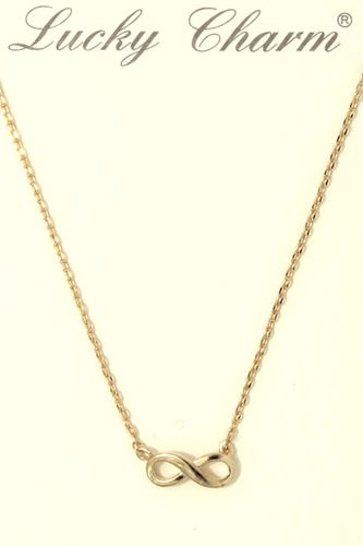 Infinity bow charm necklace-id.CC36300