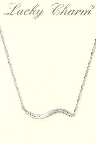 Wavy metal bar necklace-id.CC36301