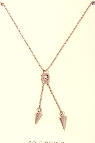 Cut out circle y shape necklace-id.CC36302