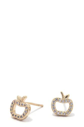 Apple rhinestone stud earring-id.CC36319