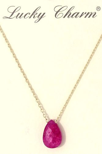 Tear drop charm necklace-id.CC36331