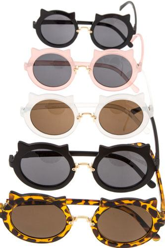 Kitty framed round lens sunglasses-id.CC36355