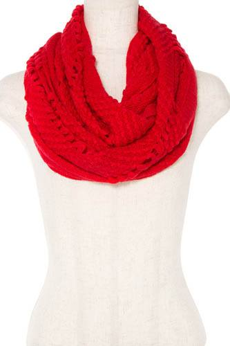 Open knitted infinity scarf-id.CC36384