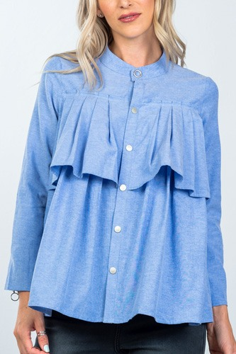Layer pleated button down top-id.cc36473b