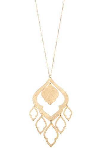 Elongated morocan cut out link pendant necklace-id.cc36518