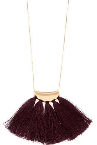 Elongated tassel fan pendant necklace-id.cc36519