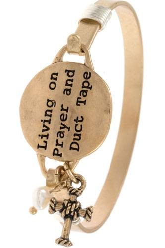 Living on prayer and duct tape bangle bracelet-id.cc36543