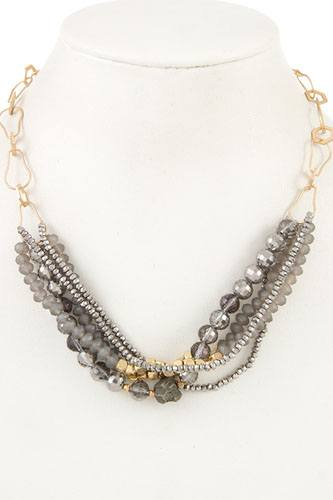 Multi bead link chain necklace-id.cc36550