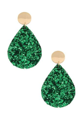 Sequin teardrop dangle earring-id.cc36553