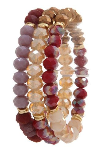 Beaded multi colored stretch bracelet-id.cc36575