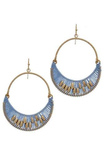 Thread metal drop earring-id.cc36576