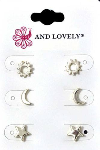 Metal multi earring set-id.cc36578