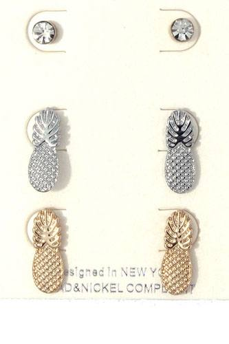 Pineapple earring set-id.cc36579