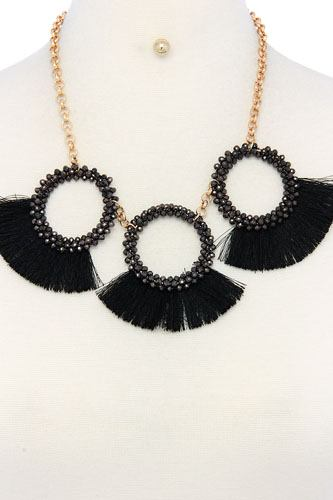 Fashion chunky stylish necklace and earring set-id.cc36587