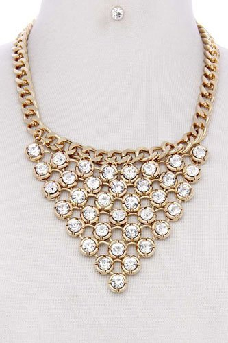 Multi rhinestone necklace-id.cc36589