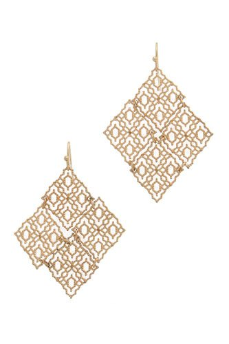 Rhombus shape drop earring-id.cc36595