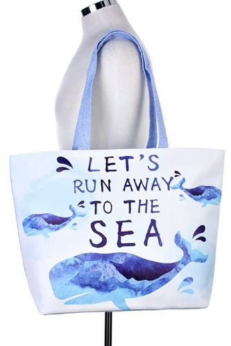 `let`s run away to the sea` whale tote bag-id.cc36616