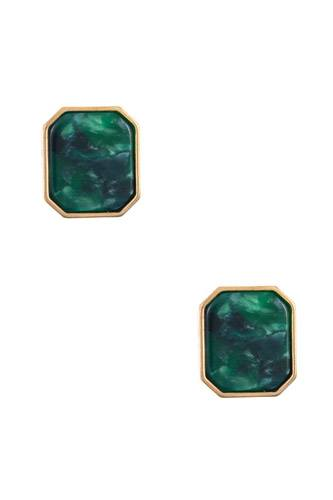 Acetate framed post earring-id.cc36631