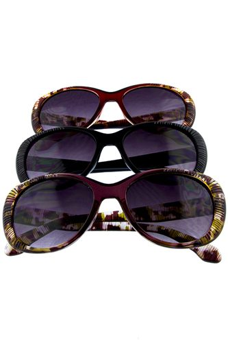 Womens ribbed whisker cat eye sunglasses -id.cc36677