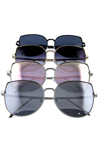 Womens metal leaf butterfly sunglasses-id.cc36683