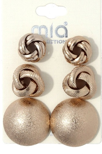 Metal earring set-id.cc36705