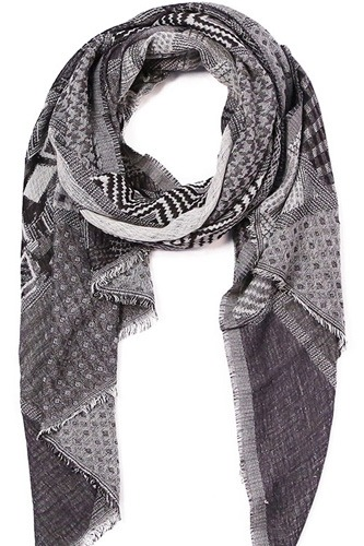Mixed pattern mosaic scarf-id.cc36747