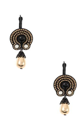 Dotted ornate drop bead dangle earring-id.cc36769