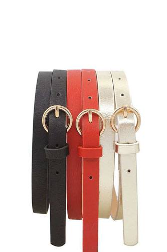 Glossy trio buckle belt set-id.cc36805