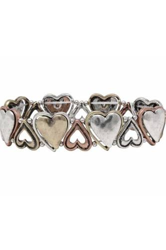 Heart metal stretch bracelet-id.cc36829